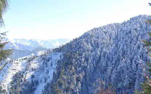 Beautiful Keolidhar Valley During Snowfall