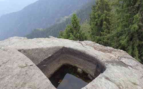 Water Source on a Rock Chunjwala Mahadev Temple